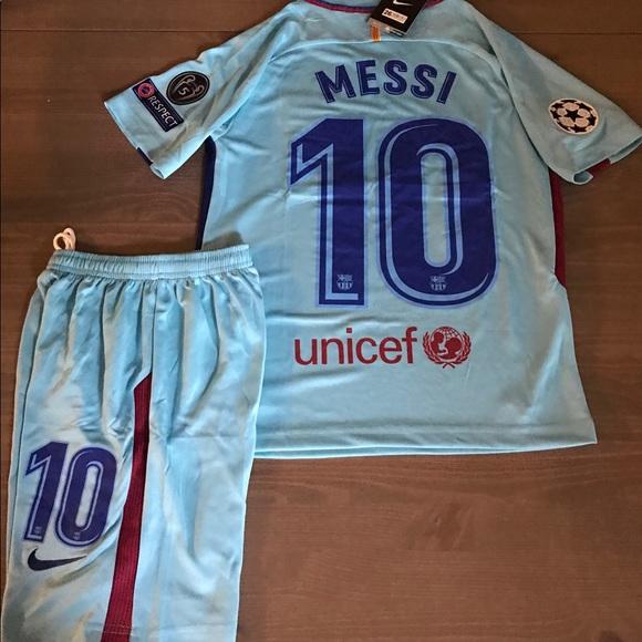 Kids kit Barcelona blue Messi  10 nike soccer a7ad4e265